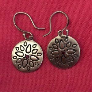 Me & Ro sterling ruby earrings